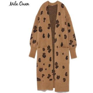 Mila Owen - ミラオーウェン モヘア混ニットカーディガンレオパード柄 新品タグ付き