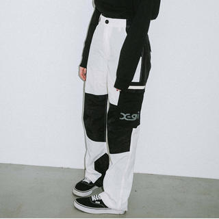 エックスガール(X-girl)のエックスガール COLOR BLOCK CARGO PANTS サイズ2(ワークパンツ/カーゴパンツ)