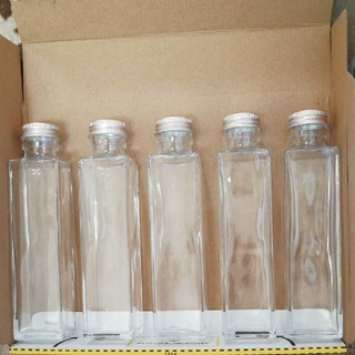 ハーバリウム瓶、四角瓶150ml 5本セット(その他)