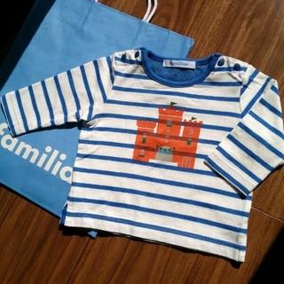 familiar - 美品 ファミリア 70 トップス ロンT 長袖Tシャツ カットソー