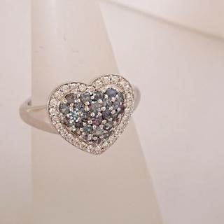 K18WG アレキサンドライト ダイヤモンド ハート リング(リング(指輪))