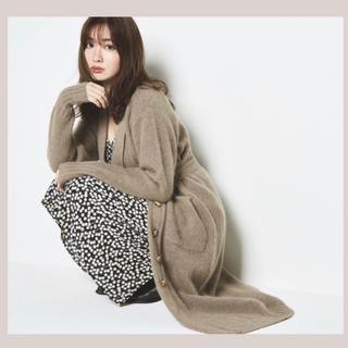 スナイデル(snidel)のBelted Wool-blend Long Cardigan【モカ】(カーディガン)