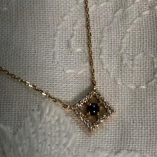 ete - 新品 k18  エテ サファイア、ダイヤモンド ネックレス