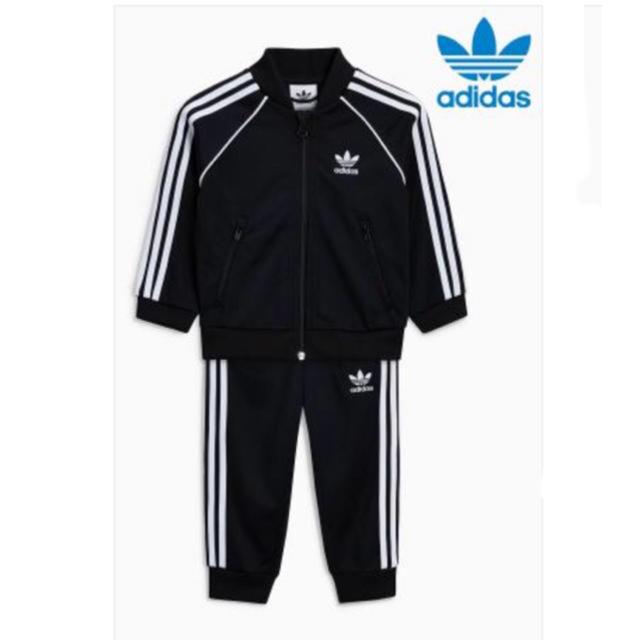 adidas(アディダス)の新品 アディダス ジャージ  上下セット キッズ/ベビー/マタニティのベビー服(~85cm)(Tシャツ)の商品写真
