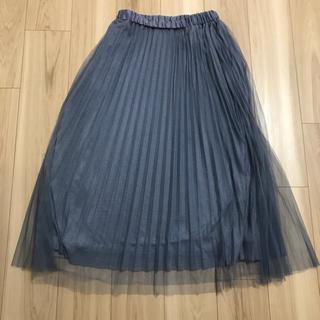 ハニーズ(HONEYS)のチュール プリーツスカート(ロングスカート)