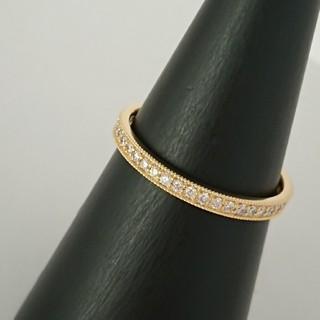 K18 ミル打ち ダイヤモンド エタニティリング(リング(指輪))