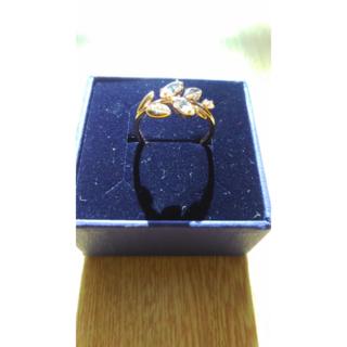 スワロフスキー(SWAROVSKI)のスワロフスキーリングメイフライ13-15号ローズゴールド(リング(指輪))