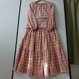 ピンクハウス(PINK HOUSE)の☆ピンクハウス☆スモックブラウス&ティアードスカート(ロングスカート)