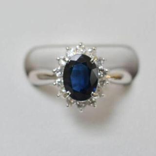 ジュエリーマキ - プラチナ Pt850 サファイア ダイヤモンド リング 10号 5.3g