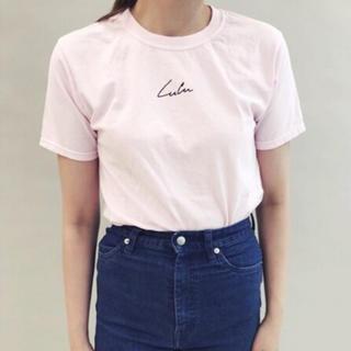 エディットフォールル(EDIT.FOR LULU)のedit for LULU 新品 ルル ロゴ Tシャツ ピンク 完売品(Tシャツ(半袖/袖なし))