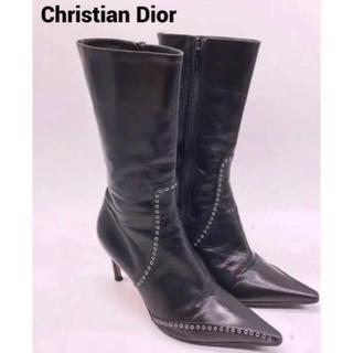 クリスチャンディオール(Christian Dior)の美品Christian Dior レザーブーツ(ブーツ)