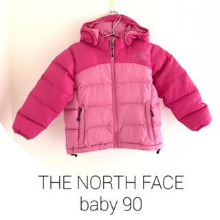 THE NORTH FACE - 大人気! 美品 ノースフェイス ダウン フーディー  90 ピンク 女の子