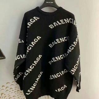 バレンシアガ(Balenciaga)のバレンシアガ ロゴ ニット 38 ブラック(ニット/セーター)
