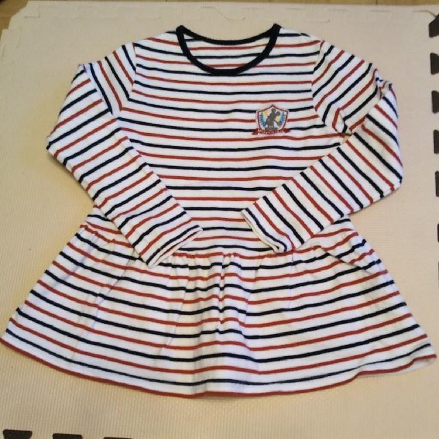 ベルメゾン(ベルメゾン)の長袖 ロンT 120 キッズ/ベビー/マタニティのキッズ服 女の子用(90cm~)(Tシャツ/カットソー)の商品写真