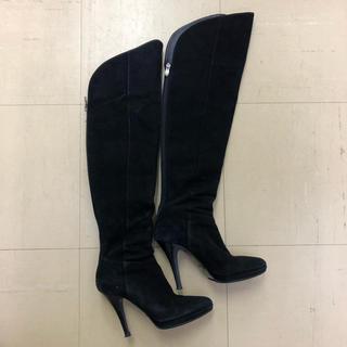 ダイアナ(DIANA)のダイアナ ニーハイブーツ スウェード 黒 23cm(ブーツ)