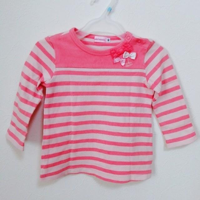 mikihouse(ミキハウス)のミキハウス ロンT 長袖 2枚セット 80 キッズ/ベビー/マタニティのベビー服(~85cm)(シャツ/カットソー)の商品写真