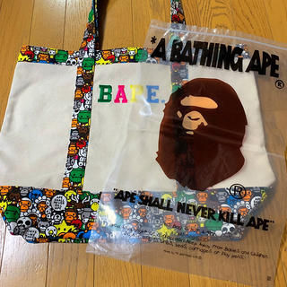 A BATHING APE - 【 バッグ 】A BATHING APE エイプ トートバッグ ショップ袋