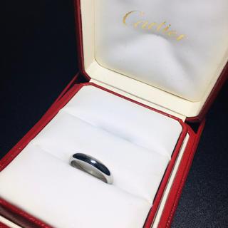 カルティエ(Cartier)の【良品 正規品】カルティエ リング 指輪 プラチナ ワイド 3.5mm 14号(リング(指輪))