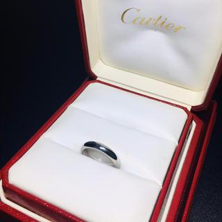 Cartier - 【良品 正規品】カルティエ リング 指輪 プラチナ ワイド 3.5mm 10号