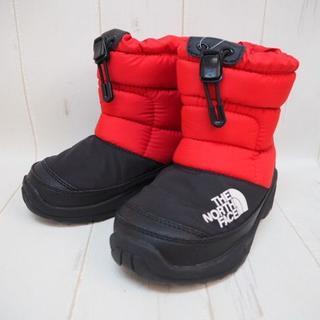 ザノースフェイス(THE NORTH FACE)のノースフェイス キッズ ヌプシブーティー 18cm☆レッドxブラック(ブーツ)
