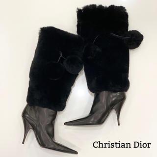 クリスチャンディオール(Christian Dior)の450 Dior 2way ファー ロングブーツ(ブーツ)