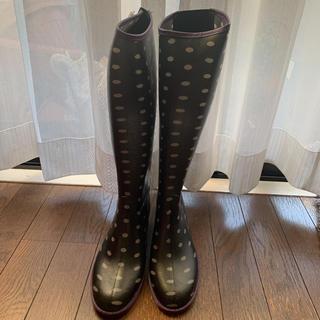 新品未使用 水玉レインシューズ(レインブーツ/長靴)