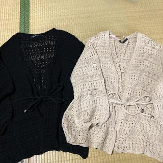 しまむら - 2枚 透かし編みカーディガン てらさん プチプラのあや しまむら