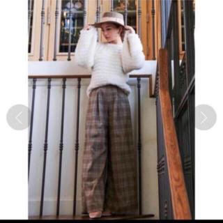 エイミーイストワール(eimy istoire)の♥タグ付新品♥グレンチェックワイドパンツ(カジュアルパンツ)