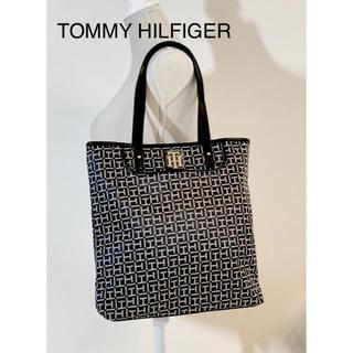 TOMMY HILFIGER - TOMMY HILFIGER トミーヒルフィガー シグネチャー トート ブラック