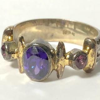 1381 シルバーリング 石付 925 15号 シルバーアクセサリー(リング(指輪))