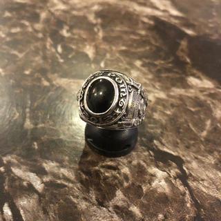 シルバー カレッジリング オニキス リング 指輪 カレッジ(リング(指輪))
