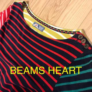 ビームス(BEAMS)のBEAMS HEART ワンピース ボーダー(ひざ丈ワンピース)