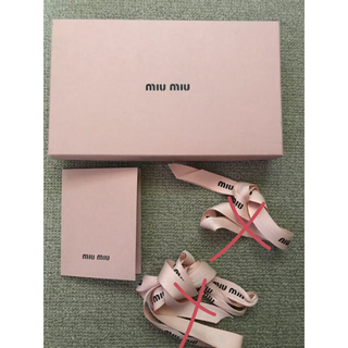 ミュウミュウ(miumiu)のmiu miu★空箱 カード(ショップ袋)