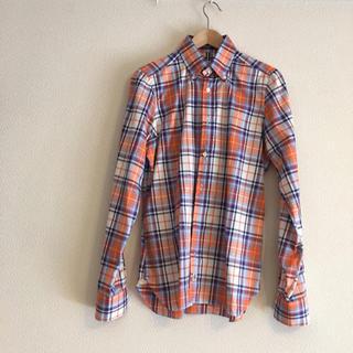 ルイジボレッリ(LUIGI BORRELLI)の新品★未使用 men'sオレンジシャツ(シャツ)