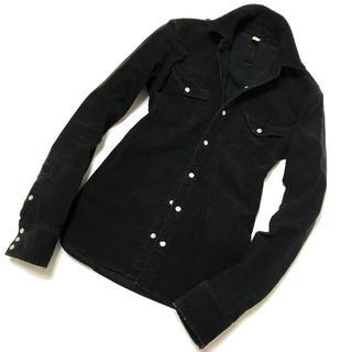 wjk - 定価3.5万 wjk ストレッチコーデュロイウエスタンシャツ M 黒