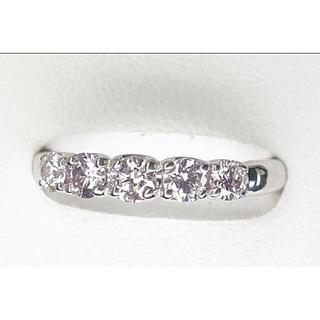 薄っすらピンクダイヤモンド★一文字リング(リング(指輪))