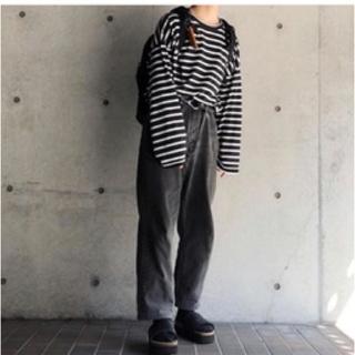 UNUSED - アンユーズド unused ボーダー シャツ ロングTシャツ