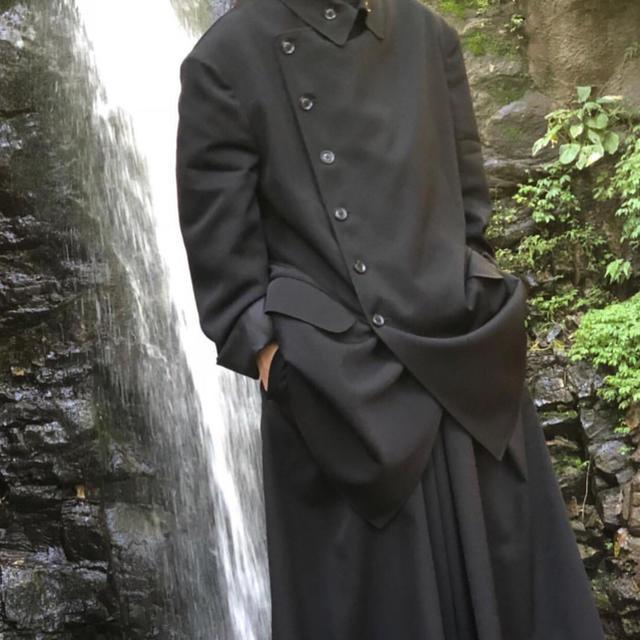 Yohji Yamamoto(ヨウジヤマモト)のyohji yamamoto pour homme ダブルブレストジャケット メンズのジャケット/アウター(テーラードジャケット)の商品写真