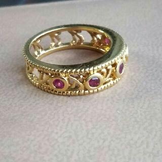 アンティークデザインのルビー付リング(リング(指輪))