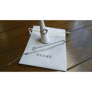 ビームス(BEAMS)のBEAMS ビームス購入 オープンハート ネックレス&リング(ネックレス)