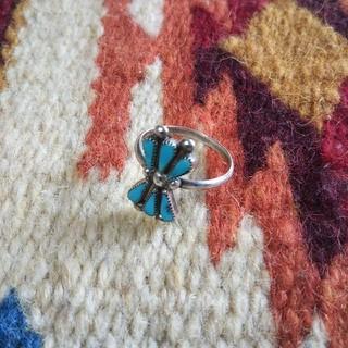インディアン(Indian)のインディアンジュエリー ズニ族 ニードルポイント シルバーリング 指輪 zuni(リング(指輪))