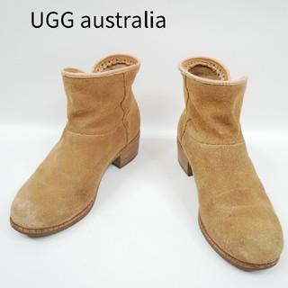 アグ(UGG)のUGG australia アグ 22cm 木製ヒール ファー無 ショートブーツ(ブーツ)