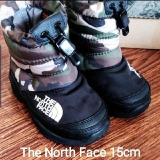 ザノースフェイス(THE NORTH FACE)の【即購入可】15cm ノースフェイス カモフラ スノーブーツ(ブーツ)