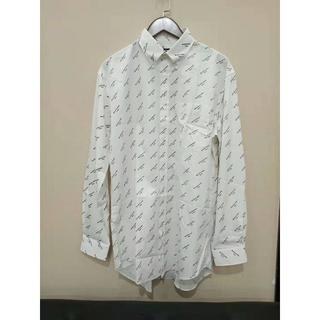 【BALENCIAGA】ロゴプリント シャツ ホワイト  38