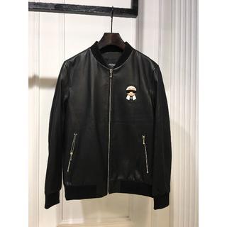 フェンディ(FENDI)のFENDI フェンディ ジャケット ブラック 新品同様 人気 激売れ(レザージャケット)