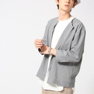 HARE - HARE ノーカラースナップボタンシャツ
