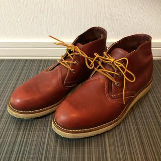 レッドウィング(REDWING)の【美品】RED WING  ブラウン 27.0cm 3189 チャッカブーツ(ブーツ)