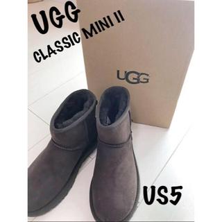アグ(UGG)の限定お値下げ!正規品UGG アグ クラッシックミニ US5 22cm チョコ(ブーツ)