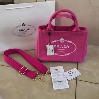 PRADA - プラダ 2way カナパ トートバッグ ピンク