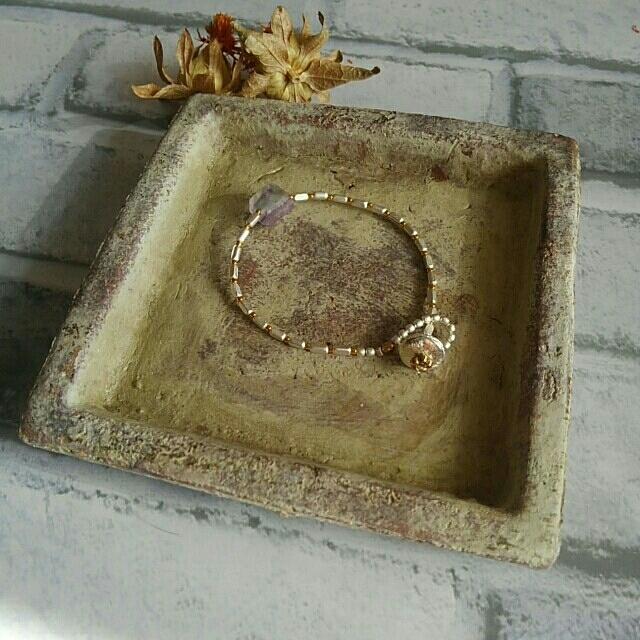 agete(アガット)のウルアンの旅 天然石とsilver925とsilver真鍮ブレスレット ハンドメイドのアクセサリー(ブレスレット/バングル)の商品写真